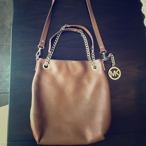 Michael Kors Brown Purse with Gold details